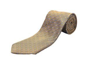 Ermenegildo Zegna Men Slim Silk Neck Tie Gold