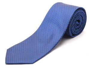 Luciano Barbera Men's Slim Silk Neck Tie Blue Orange