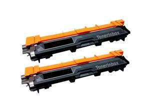 2 Pack inkinbox® Black Toner Cartridge Replacement For Brother TN-221 TN221 TN-221BK (Black)