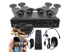 Best Vision 8-Channel 720P AHD High Definition Security System, 4 x 720P AHD Cameras, 8 Channel AHD DVR With 1TB HDD Installed. Plug and Play Easy Installation.