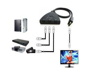 3 Port HDMI Multi Display Auto Switch Hub Box 1.3 1080P Switcher 3 in 1 out Splitter for HDTV DVD Xbox 360 PSP