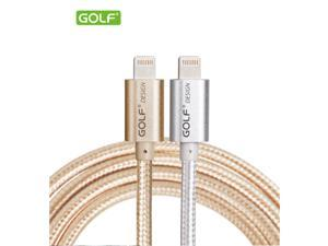 Golf Brand Luxury Aluminum Metal Braided USB Cable 1M 1.5M 2M 3M 8-pin Wire For Iphone 5 5s 6 6s plus Sync Charging Data Transfer iPhone USB Cable
