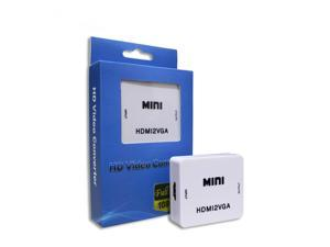 Mini HDMI to VGA Converter With Audio HDMI2VGA 1080P Adapter Connector For PC Laptop to HDTV Projector