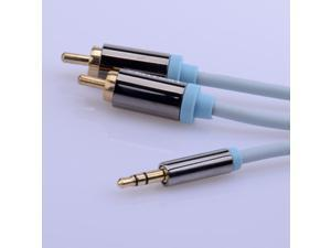 Vention 1.5M 2RCA to 3.5mm Male aux Cable Gold Plated 3.5 Jack RCA Audio Cables Headphone aux Jack Splitter