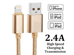 Eonet Luxury Metal Braided Mobile Phone Cables Charging USB Cable Charger Data For iPhone 5 5S 6S 6 6 plus IOS9