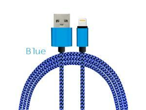 Lightning USB Cable,Nylon Braided Metal Heads iOS9 Sync Data Charger Cable for iPhone 5 5S SE 6 6S Plus