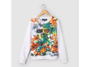 Teen Girls Tropical Floral Print Sweatshirt, 10 - 16 Years