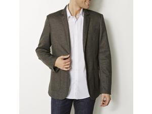 R Reference Mens Straight Cut Pique Jacket With 2 Buttons Grey Size M
