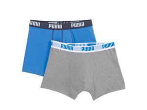 Puma Mens Pack Of 2 Hipsters Blue Size L