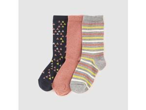 Abcd'r Girls Pack Of 3 Pairs Of Patterned Socks, 3-12 Years Green Size 19/22