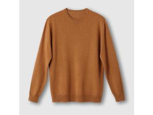 Castaluna For Men Mens Round Neck Lambswool Jumper/Sweater Brown Size Us 48/50
