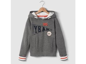 Abcd'r Boys Campus Hoodie, 3-12 Years Grey Size 12 Years - 59 In.