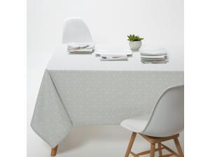 La Redoute Interieurs Diamond Printed Polycotton Tablecloth Grey 170 X 300 Cm