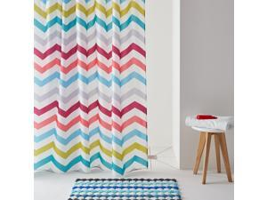 Zigzag Multi-Coloured Printed Shower Curtain.