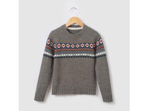 Boys Jumper/Sweater With Jacquard Border, 3-12 Years