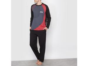 Athena Mens Three-Tone Jersey Pyjamas Black Size M