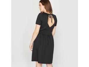 Castaluna Womens Short-Sleeved Textured Dress Black Size Us 24 - Fr 54