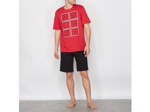 Athena Mens Two-Tone Short Pyjamas Red Size L