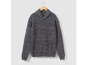 Teen Boys Stranded Knit Shawl Collar Jumper/Sweater, 10-16 Years