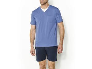 Castaluna For Men Mens Jersey Short Pyjamas Blue Size Us 44/46