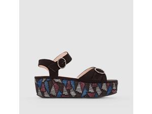 La Redoute Womens Wedge Sandals Black Size 36