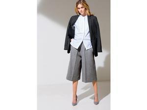 La Redoute Womens Pleated Culottes, 25% Wool Grey Size Us 8 - Fr 38