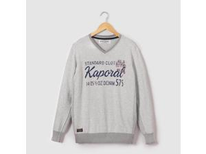 Kaporal Teen Boys V-Neck Jumper/Sweater, 10-16 Years Grey 12 Years - 59 In.