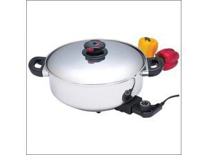 Stainless Steel Electric Skillet/Slow Cooker