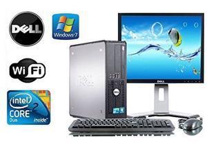"""Dell Optiplex 755 SFF Windows 7 Pro 64 bit 3.0 Core 2 Duo 8GB DDR2 750GB DVD-RW + WiFi + NEW Dell 22"""" LCD"""