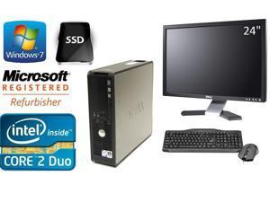 """Dell Optiplex 780 SFF Win 7 Pro 64 Bit 3.0 GHz Core 2 Duo 8GB DDR3 240GB SSD DVDRW + DELL 24"""" LCD"""