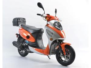 Jiangsu Baodiao Locomotive Boom 49cc Street Legal Gas Scooter - BD50QT-2A-Orange