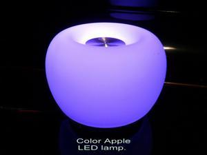 New Color Apple LED Lamp with Aromatherapy Diffuser. Essential oil into the oil vase of top lamp. White or variety colors are free to choice.2 way of brightness with multi color, Switchable, Cyclic va