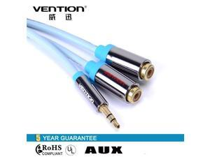 Vention VAB-R02 3.5mm Jack to 2 Female RCA Splitter 1 to 2 Y Audio Cable Gold Plated