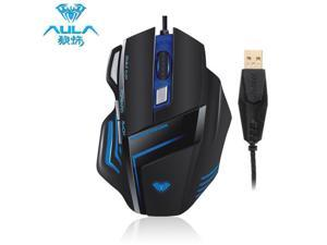AULA Ghost Shark Gaming 400-800-1200-1600-2000DPI Mouse With LED Light