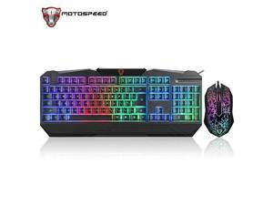 Motospeed S69 Colorful Backlit Gaming Keyboard and Mouse Set
