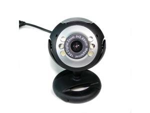 USB 12.0M 6 LED WEBCAM CAMERA WEB CAM MIC FOR PC LAPTOP
