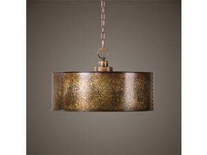 Uttermost Wolcott 3 Light Golden Pendant