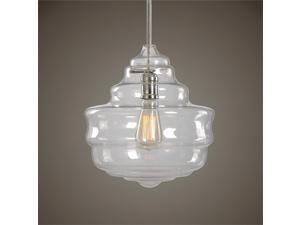 Uttermost Bristol 1 Light Beehive Glass Pendant