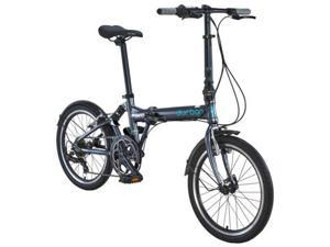 "Durban 20"" Folding Jump Bike with 7 Speed - Dark Grey"