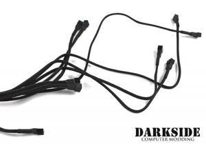 Darkside 3-pin Quad Push-Pull Radiator Fan Power Y-Cable Splitter (8x Fans) - Jet Black (DS-0101)