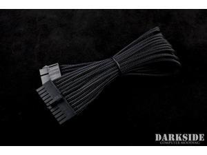 "Darkside 24-Pin ATX 12"" (30cm) HSL Single Braid Extension Cable - Jet Black (DS-0178)"