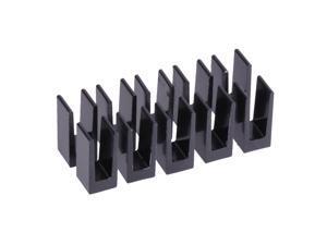 Alphacool GPU Heatsinks 7 x 7 x 15mm   Black - 10 Pack (17156)