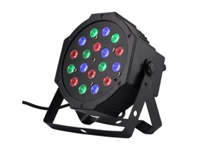 18X3W LED PAR64 LED Flat Par Light RGB DMX Control Party Disco Xmas Bar DJ Stage Lighting 54W RGB LED flat parLight DMX stage lighting