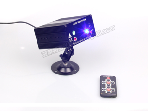 The new remote control 3-hole Sound Stage Lighting KTV Laser Light Laser LED Strobe Lights Stage Lighting LED laser Light Remote Control 300MW Red Blue Laser 3W Blue LED 40 Patterns