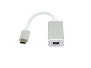 USB 3.1 Type-C to Mini DisplayPort Adapter,Support 4K output with Aluminium Case USB-C to Mini DP Mini DisplayPort Female for Apple New Macbook, ChromeBook Pixel