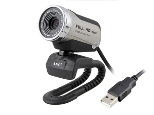 ANC Core HD1080P super-high-definition TV camera, night vision camera 12.0M USB Webcam with Microphone for Laptop / Desktop / Skype / MSN, Auto Exposure, Digital Zoom, Clip-On & Freestanding