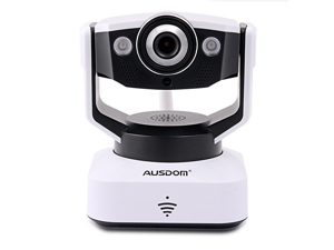 AUSDOM 1280 x 720p H.264 Home Security surveillance Camera HD  WiFi Wireless Pan&Tilt IP/Network Camera Baby Monitor  Wireless IP Video Camera P2P Network Built-in Microphone With remote monitoring