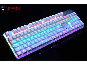 ZIDLI ck300 USB wired metal green axis Gaming  mechanical keyboard Waterproof Colorful Backlit Professional Gaming Keyboard with 104 Keys, Switchable Backlight Colors mechanical keyboard