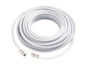 SureCall 50' RG-6 Coax Cable with F - Male Connectors, White