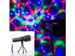 Weanas® Portable Hand-Held LED Three Color Stage Lighting Lights Disco Ball Lamp Party Show DMX Lighting with Bright Flashlight for Outdoor Camping, Party, Birthday, Christmas, Other Celebration